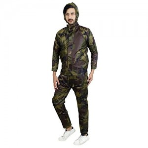 Zacharias Men's Camouflage Print RainSuit