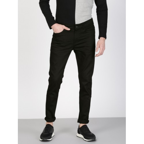 ether Men Black Skinny Fit High-Rise Clean Look Stretchable Jeans