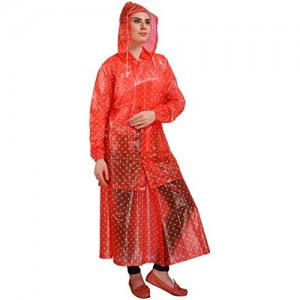 Goodluck Transparent Raincoat For Womens With Skart