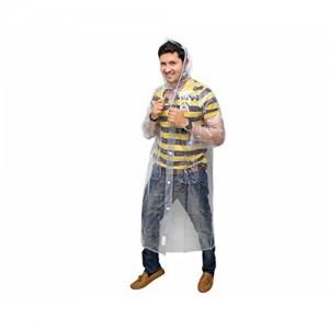 Goodluck Men's Transparent PVC Raincoat/Rainwear