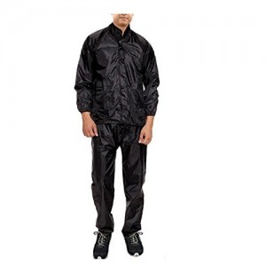 Krystle Men Black Rainsuit (Pack of 1)