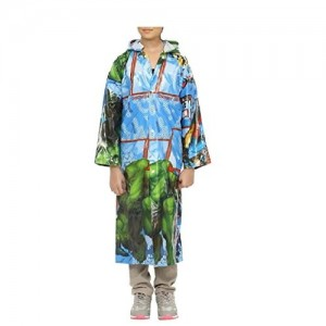 Krystle Boys|Girls Printed Self Design PVC Raincoat For kids