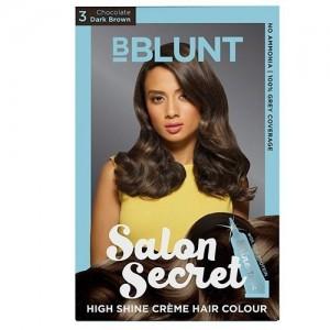 BBlunt Salon Secret High Shine Creme Dark Brown 3 Hair Color(Chocolate Dark brown)