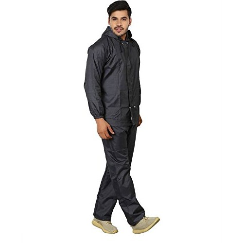 REXBURG Solid Monsoon Citizen Men's Rain Coat (Blue), Absolute Comfortable and Made with 100% Water Proof Material. (XL Size)