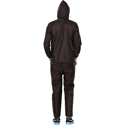 REXBURG Stylish Monsoon Men's Rain Coat (Brown), Absolute Comfortable and Made with 100% Water Proof Material. (XL Size)
