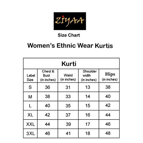 ZIYAA Women's Straight Synthetic Kurta