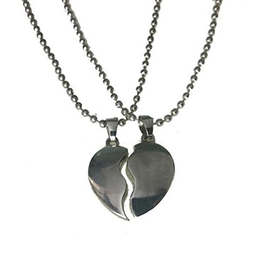 Modish Look Trendy Couple Heart Lockets With Chain