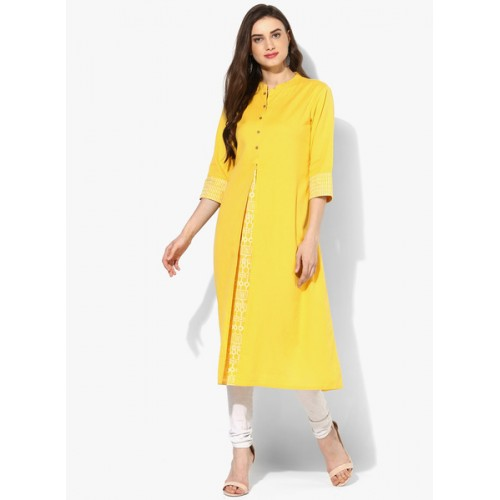 551d66ada Buy Rangmanch By Pantaloons Yellow Printed Kurta online