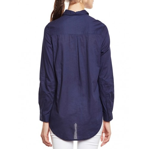 oxolloxo navy blue regular shirt
