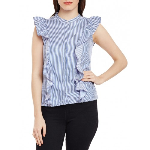 oxolloxo blue striped cotton shirt