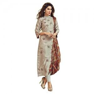 Adiba Peach Silk Cotton Dhoti style Designer Kurti