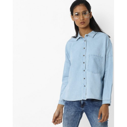 ee0fe70aac7 Buy DNMX Denim Shirt with Patch Pocket online