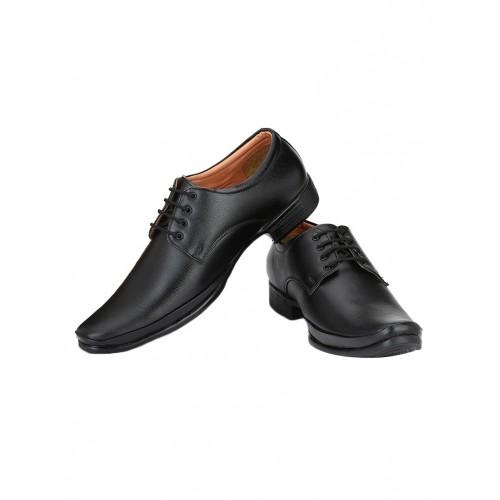 Shoe Island black leatherette laceup derbies