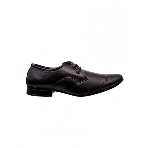 Shoe Island black leatherette lace-up derby