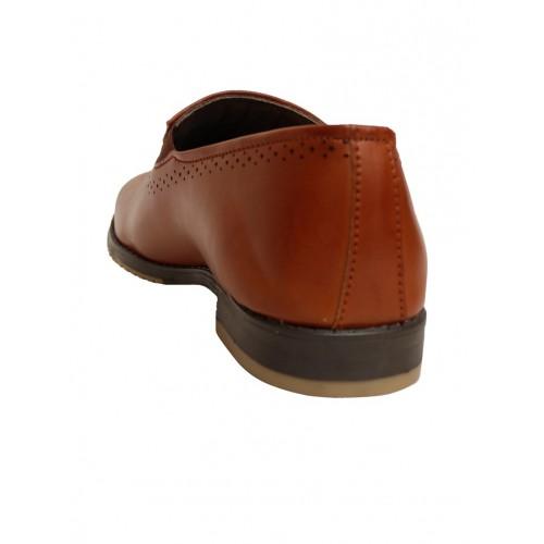 Shoe Island brown Leatherette slip on