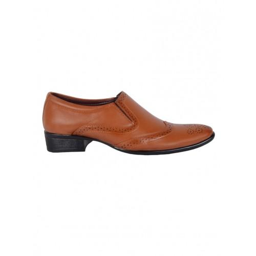 1AAROW tan leatherette slip on