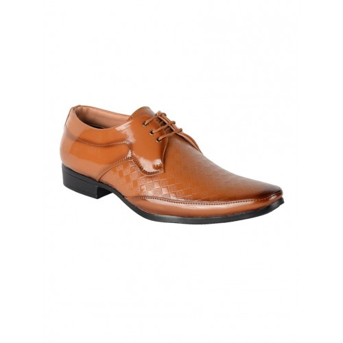 1AAROW tan Patent Leather derby
