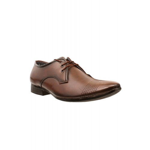 Shoe Island brown leatherette lace-up derby