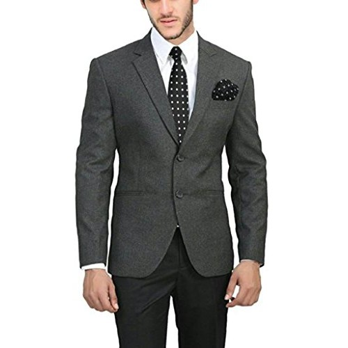 Bregeo Fashion Charcoal Grey Slim Fit Blazer