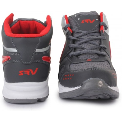 Trase SRV Men's Ace11 Grey/Red Sports Running Shoes