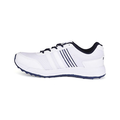 Action Shoes Men's Mesh Lace Up White & Navy Sports Shoes (ESP-103-WHITE-NAVY)