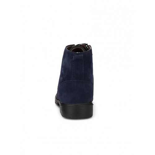 Big Fox Blue Suede high ankle boot