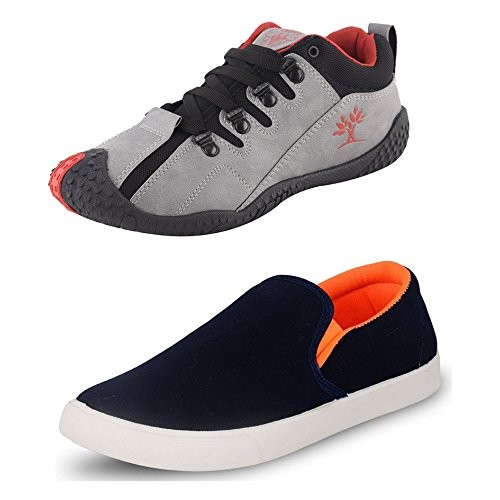 Chevit Men's Combo Pack of 2 Sports & Casual Shoes (Running & Loafers Shoes )
