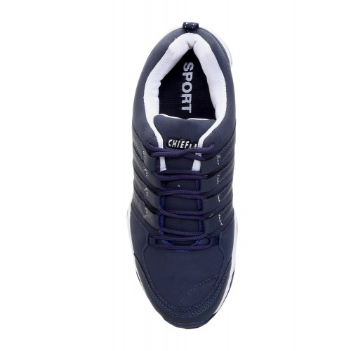 Chiefland navy leatherette sport shoe