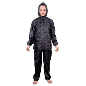 Malvina Girl's Black PVC Rainsuit