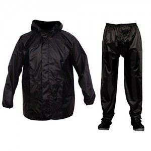 Malvina Boy's Black PVC Rainsuit