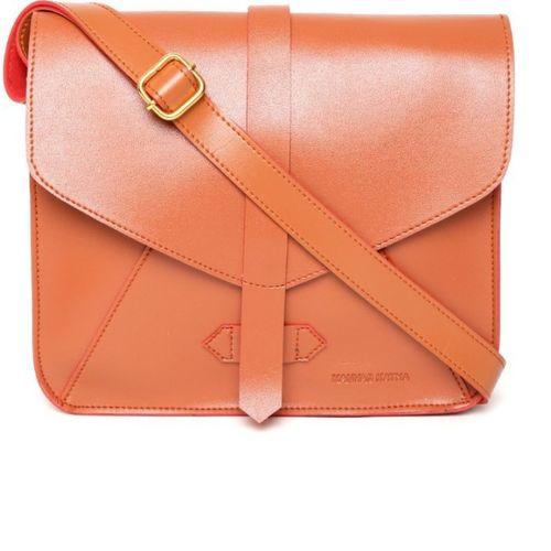 Kanvas Katha Women's Sling Bag (Brown) (KKNOR004)