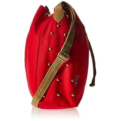Kanvas Katha Women's Sling Bag (Red) (KKSDPOT001R)