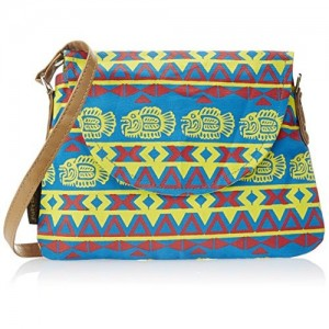 Kanvas Katha Women's Sling Bag (Blue) (KKPUS003BL)