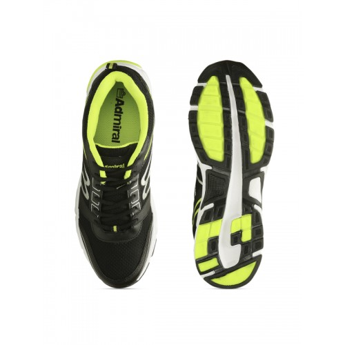Admiral Men's Black Green Speed Running Shoes