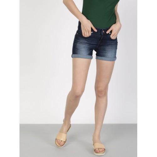 Buy Denim Fit Solid Slim in Women Blue OnlineLooksgud Ether Shorts ARLq34c5j