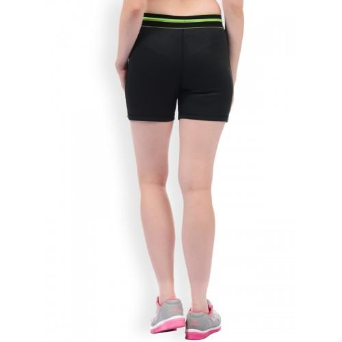 Sweet Dreams Women Black Solid Slim Fit Regular Shorts