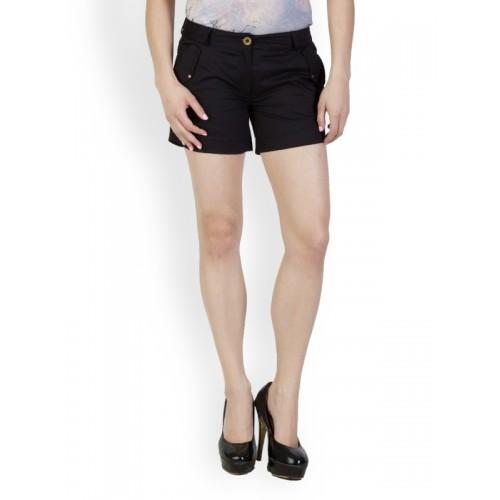 Rider Republic Women Black Shorts