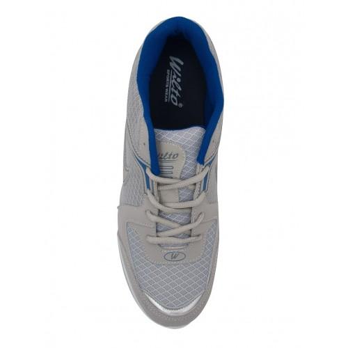 asian grey  mesh lace-up sport shoe