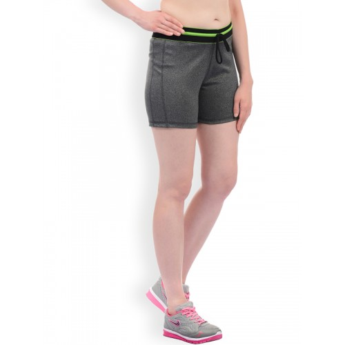 Sweet Dreams Women Grey Solid Slim Fit Regular Shorts