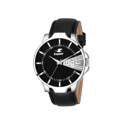 Espoir Analog Black Day and Date Dial Men's Watch - Infinity-Black0507