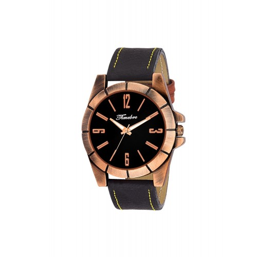 Gravity leatherette strap round dial Analog Watch