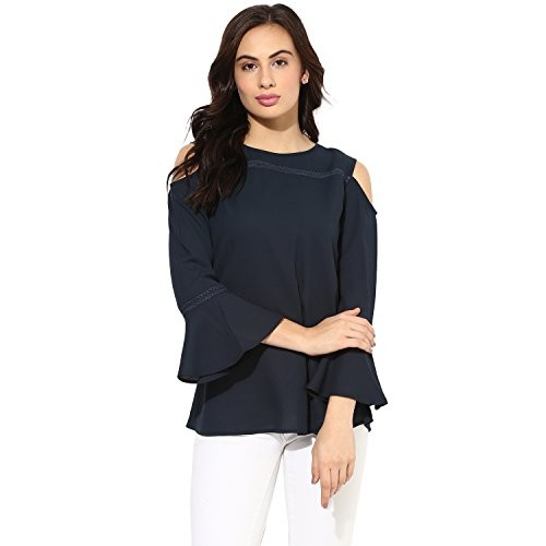 e1c33842e41 ... Eternal Cold Shoulder Off Shoulder Crepe Western Top for Women Party  Wear | Tops for Girls ...