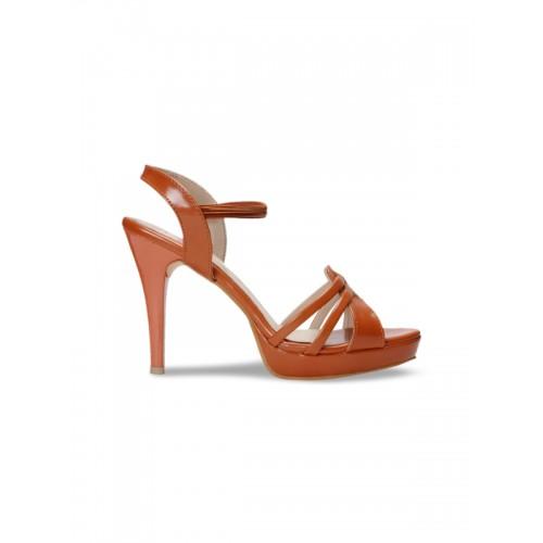 meriggiare Women Tan Solid Sandals