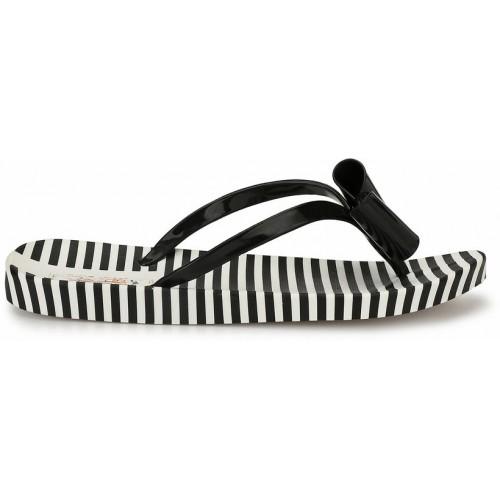 ZACHHO black rubber flip flop