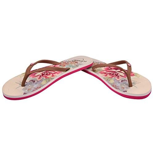 Flipside pink floral flip flop