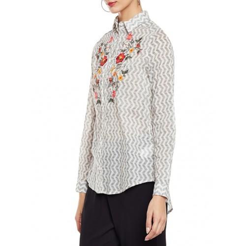 oxolloxo white regular shirt
