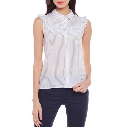 oxolloxo white striped cotton shirt