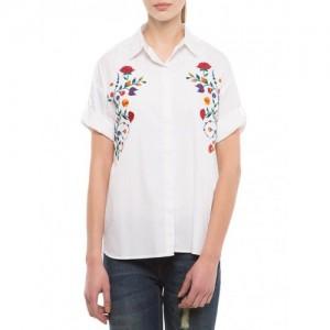 Tokyo Talkies white cotton shirt
