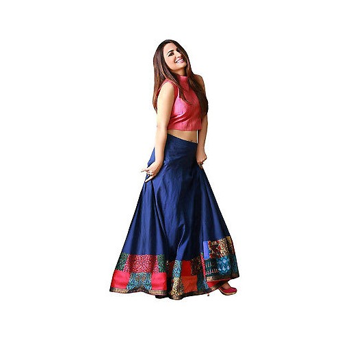 b4b3c7003d Buy Blue Color Bollywood Latest Party Wear Printed Lehenga Choli For  Girls&Women online | Looksgud.in