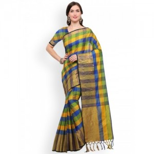 90e61ea51d747 Buy The Chennai Silks Multicoloured Woven Design Art Silk Saree ...